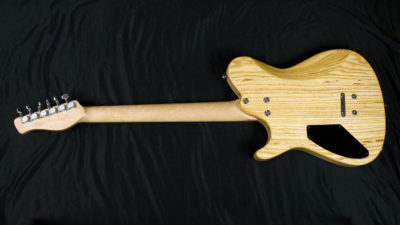 Sage with swamp ash body and birdseye neck.